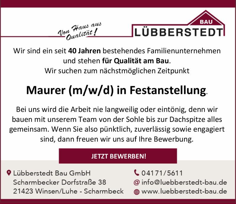 Luebberstedt-stellenanzeige-maurer-winsen